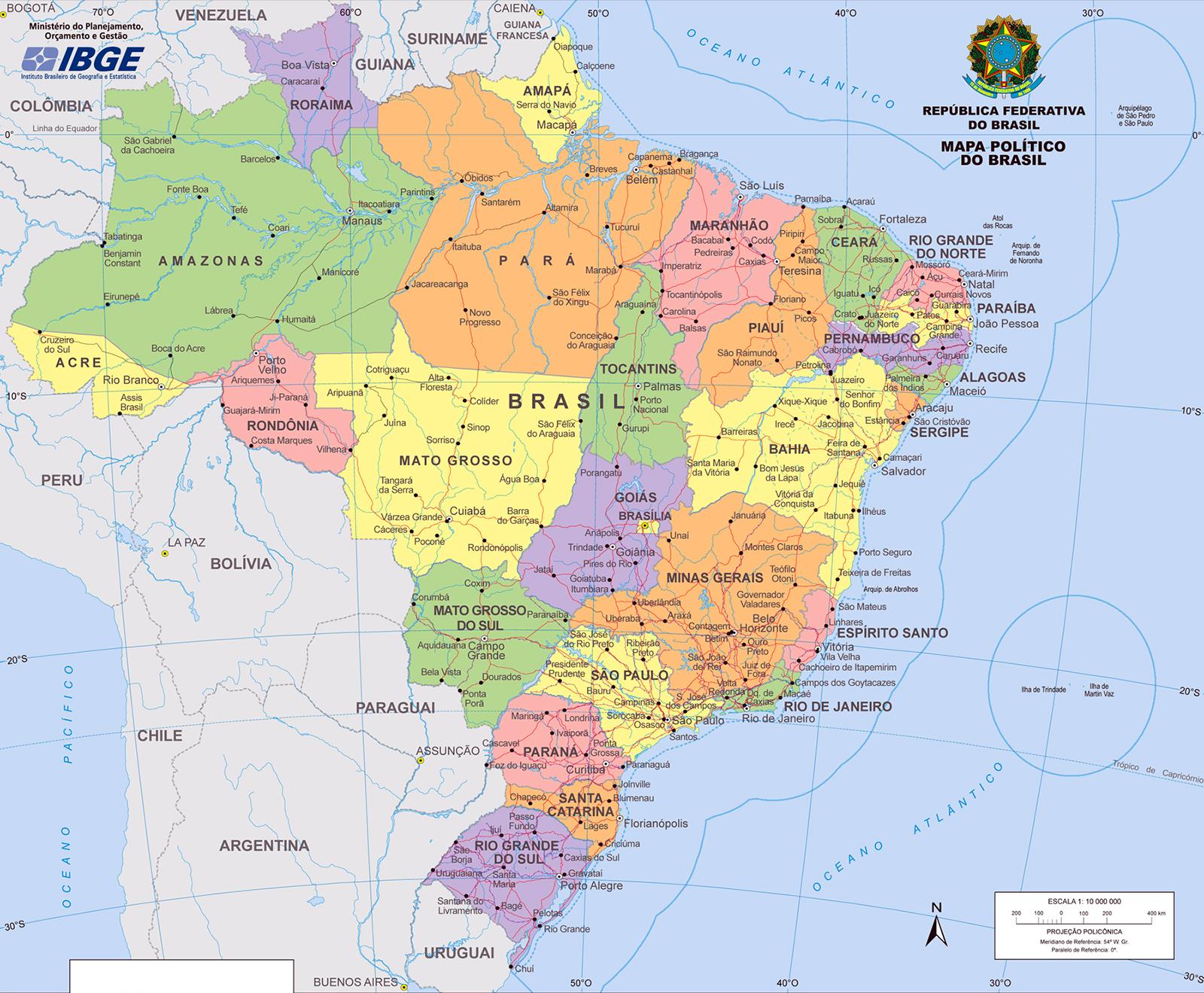 30c1579cb Mapa do Brasil, tudo sobre o Mapa do Brasil e Imagem do Mapa do Brasil