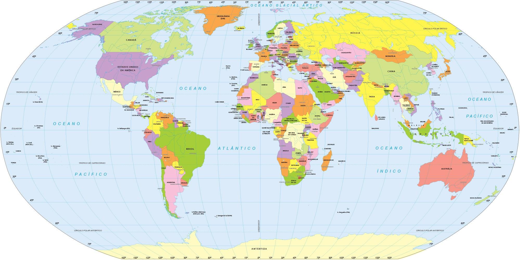 61c814a8b Mapa Mundi, curiosidades, representações, Imagem do Mapa Mundi