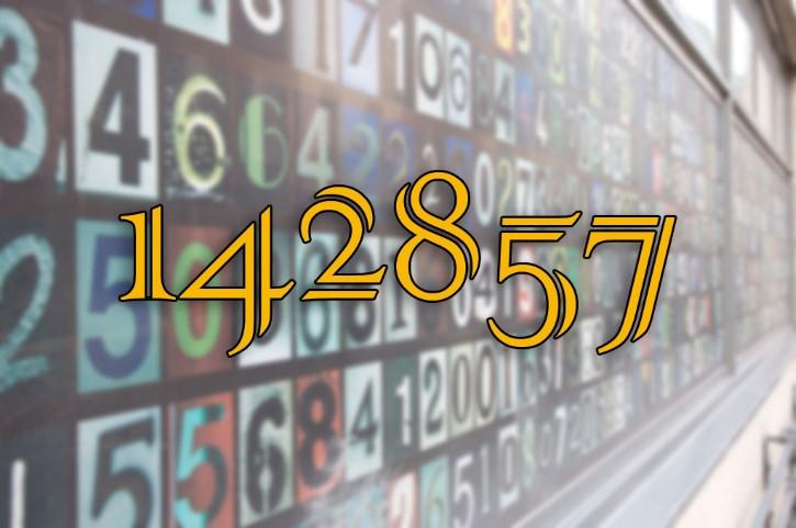 O número 142857